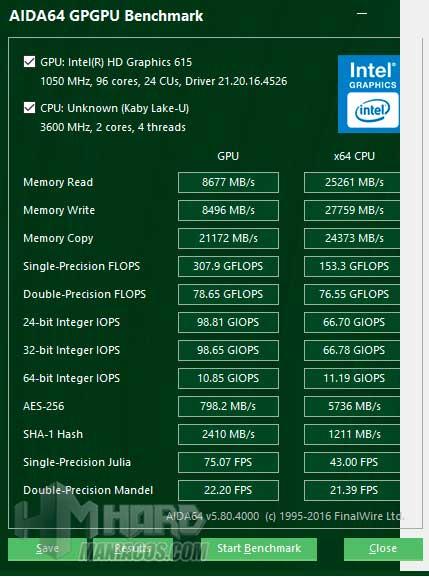 Acer Swift 7 test grafica 2