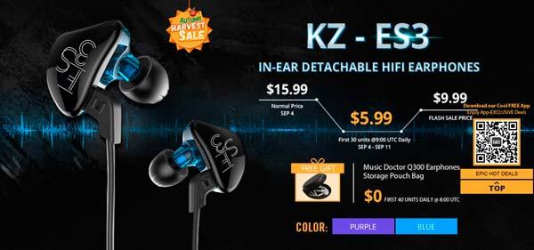 Auriculares KZ-ES3