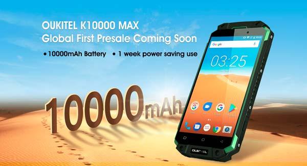 prueba de consumo del OUKITEL K10000 MAX