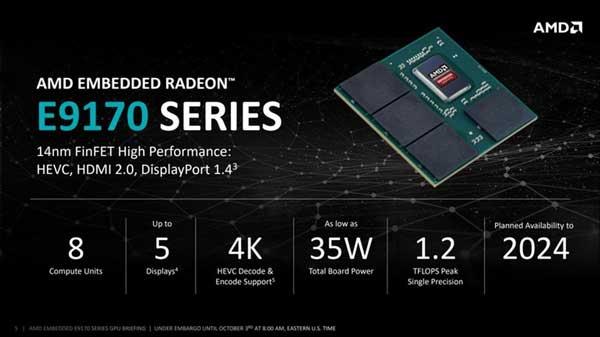 AMD presenta nueva dGPU Radeon Serie E9170