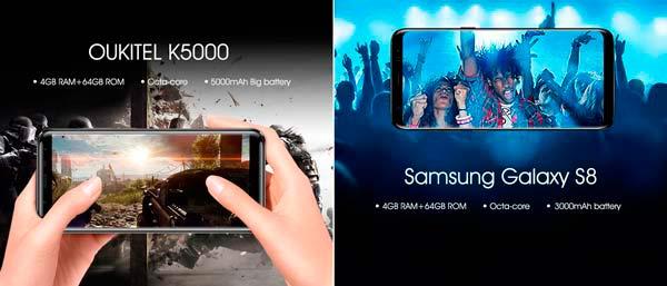 El nuevo Oukitel K5000 se mide con el S8 de Samsung