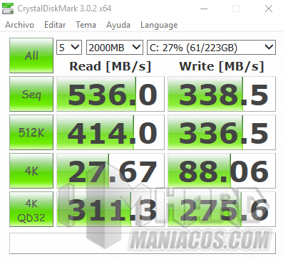 test Crystal Disk Mark SSD