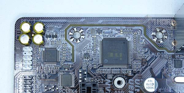 Gigabyte GA-AB350M-D3H zona audio