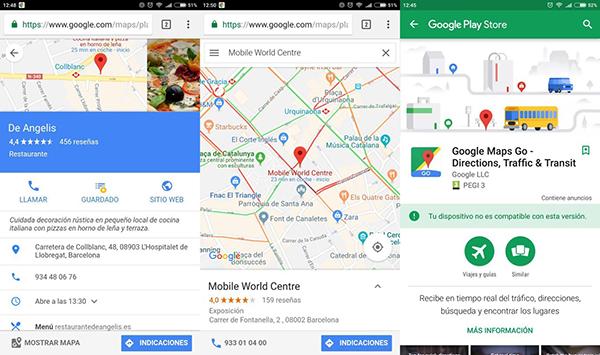 Google Maps Go solo para dispositivos con Android Go