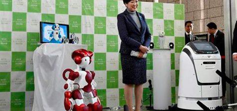 robots en el aeropuerto de tokio