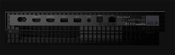 Xbox One X conectores