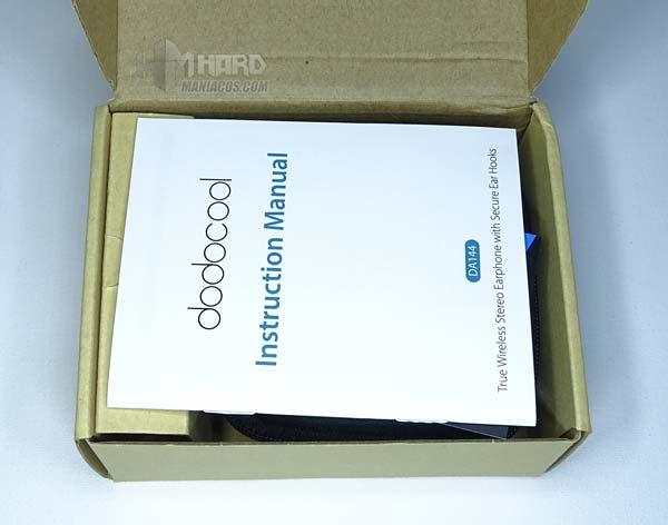 interior caja auriculares dodocool