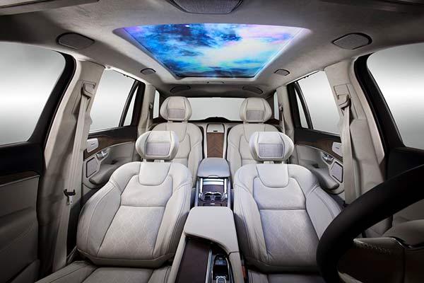 pantalla en techo coche autónomo Samsung