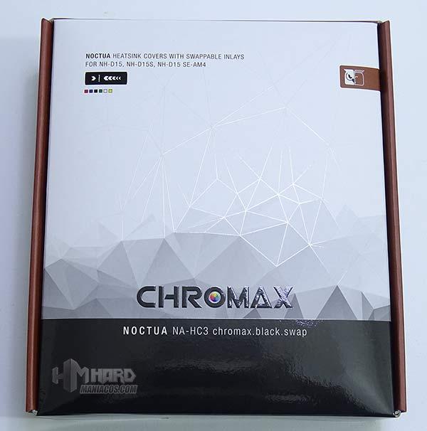 accesorios noctua chromax na-hc en la caja