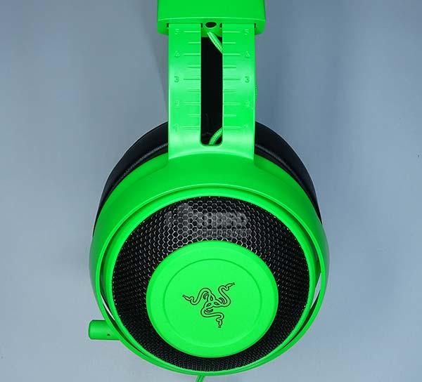 orejera diadema estirada Razer Kraken Pro V2