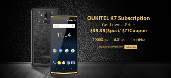 promocion oukitel k7, portada