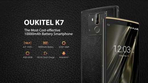 oukitel k7 con gran batería, portada