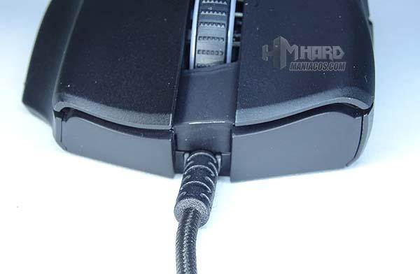 razer naga trinity, cable en el ratón