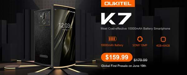 oukitel k7, portada lanzamiento
