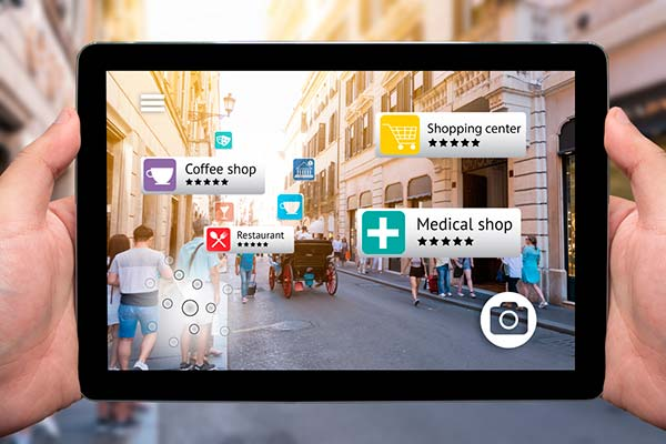 tablet con AR