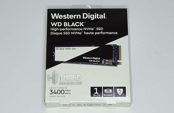 wd black nvme ssd, frontal caja
