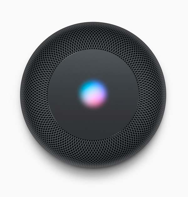 suerficie superior Apple HomePod
