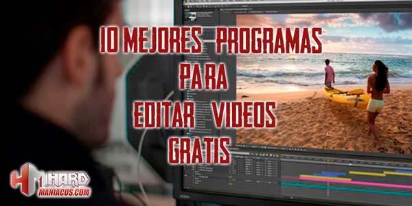 10 mejores programas para editar videos gratis