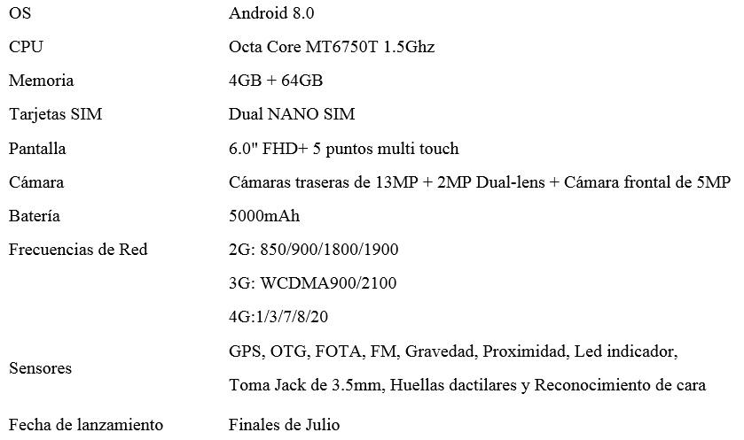 características del oukitel k8