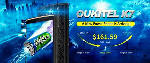 nueva promoción oukitel k7