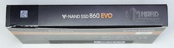 laterla caja Samsung 860 EVO