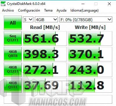 test Crystal DiskMark SSD en PC