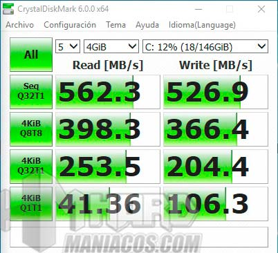 Test Crystal Disk Mark PC SSD