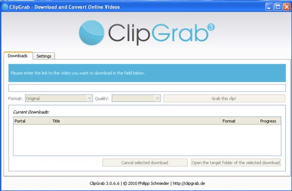 programa clipgrab, descargar videos pornos gratis