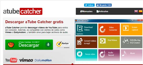 programa atube catcher para descargar videos de youtube