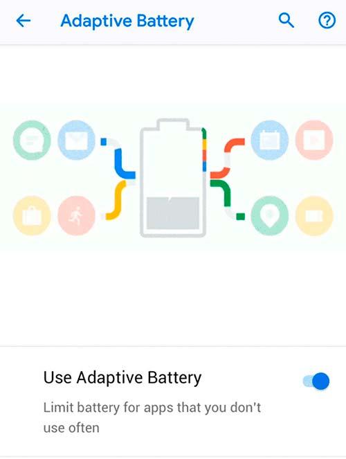 batería adaptativa Android 9