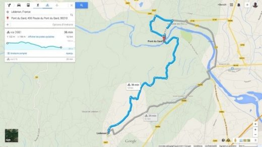itinerario mapa
