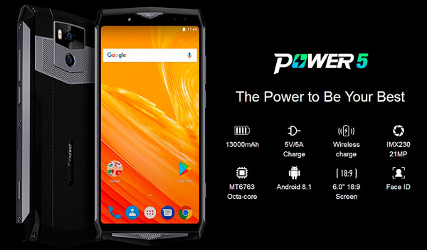 ulefone power 5, portada