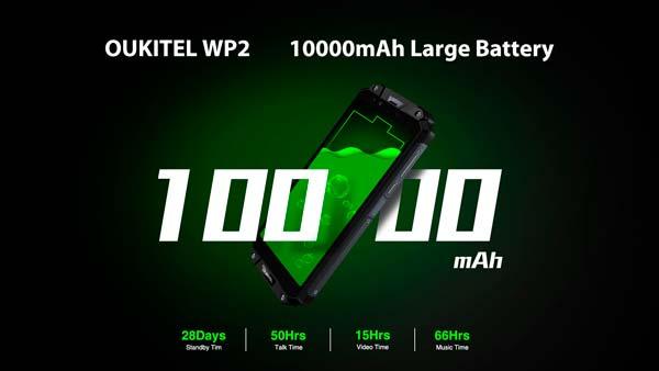 duración batería oukitel wp2, portada