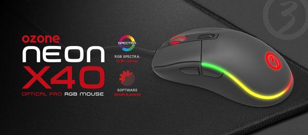 El Neon X40 es la evolución del ratón clásico de Ozone