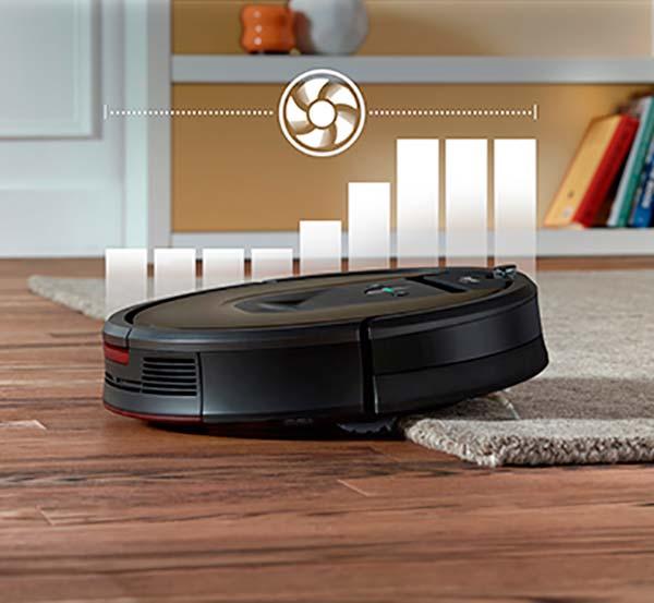 Roomba modo alfombra