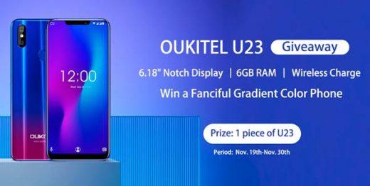 oukitel u23 con algunas caracteristicas