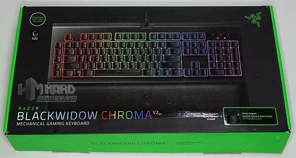 caja frontal teclado blackwidow chroma v2