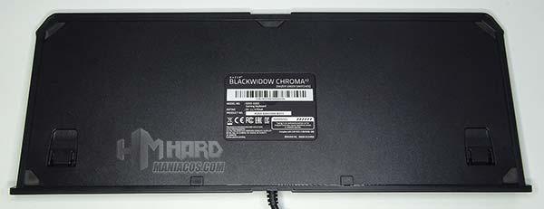parte de atrás del teclado blackwidow chroma v2
