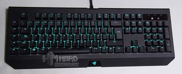 iluminación teclado razer blackwidow chroma v2 verde