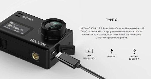 SJCAM SJ8 Pro con conector tipo c