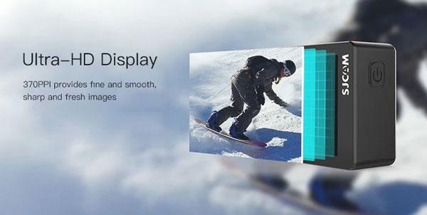 SJCAM SJ8 Pro viendo el ultra display