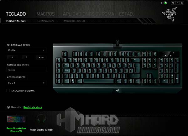 synapse teclado blackwidow chroma v2