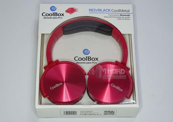 auriculares rojos CoolBox Coolmetal en caja