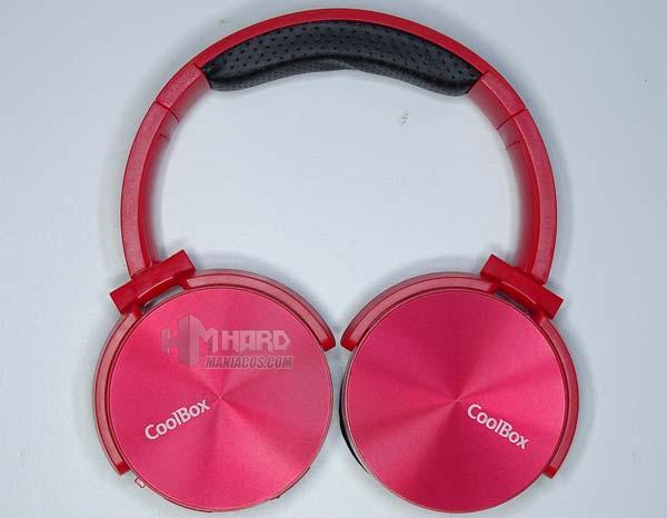 auriculares Bluetooth CoolBox CoolMetal rojos