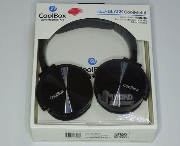 airuculares negros CoolBox CoolMetal en caja
