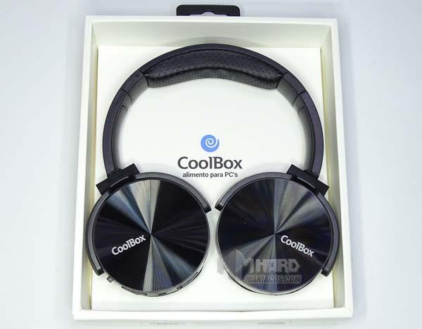 auriculares Bluetooth CoolBox CoolMetal en caja