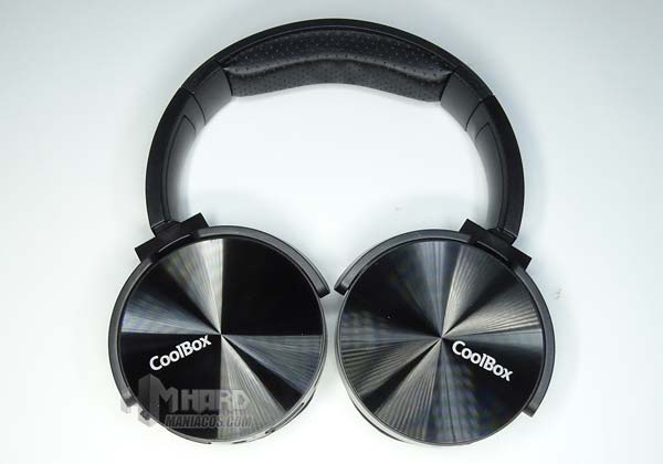 auriculares negros CoolBox CoolMetal
