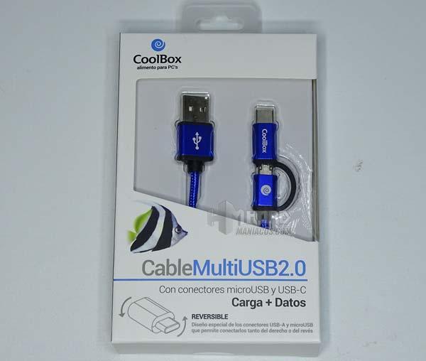 cable multi usb 2.0 coolbox, caja