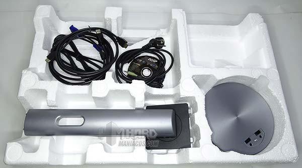 monitor aoc q2790pqu soporte y cables