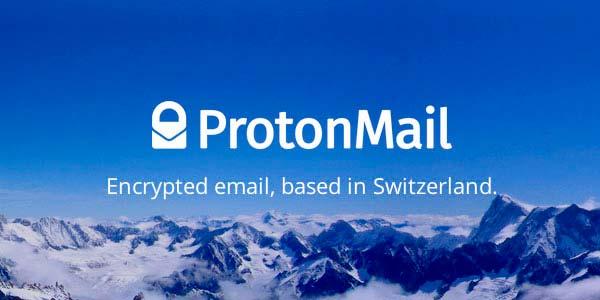 gestor de correo protonmail